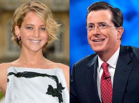 Jennifer Lawrence, Stephen Colbert