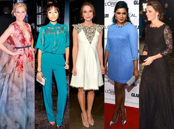 Keira Knightley, Elizabeth Banks, Ashley Madekwe, Mindy Kaling, Kate Middleton