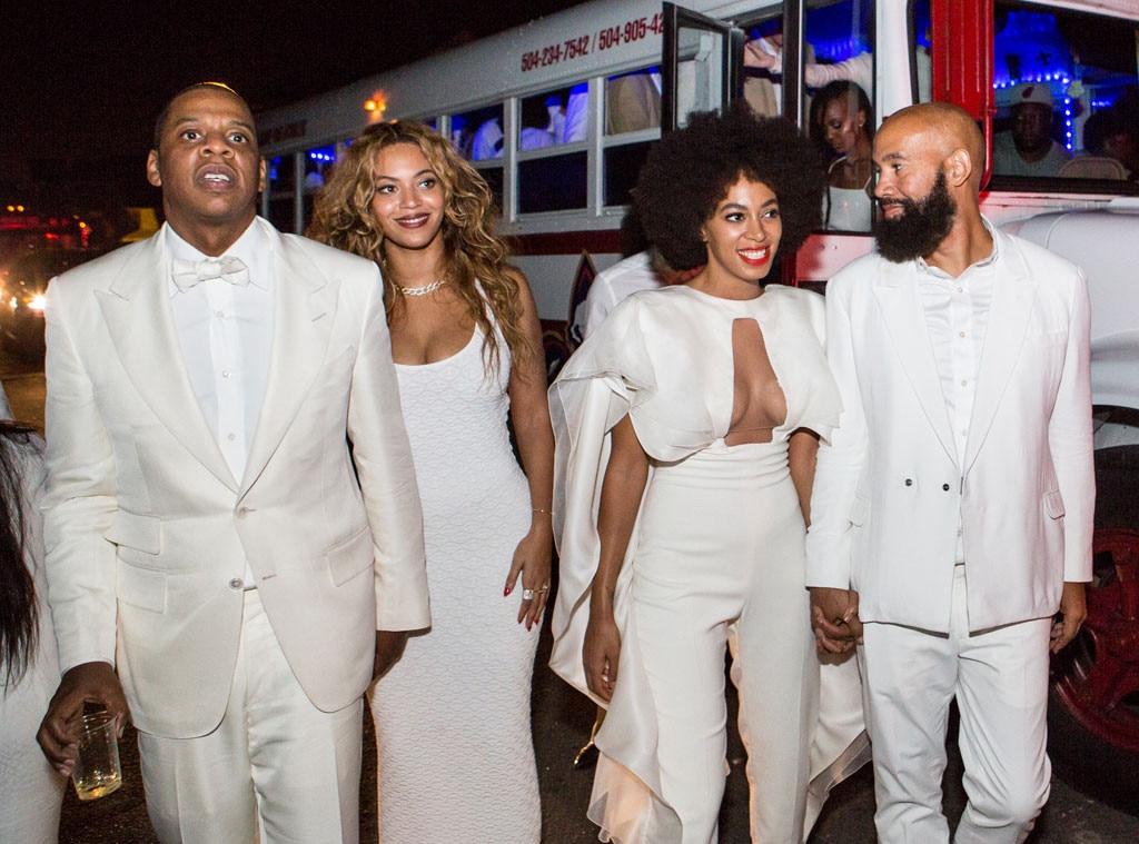 Celebrity Bridesmaids, Jay-Z, Beyonce Knowles, Solange Knowles, Alan Ferguson, Wedding