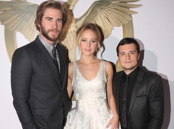 Liam Hemsworth, Jennifer Lawrence, Josh Hutcherson, Mockingjay Premiere