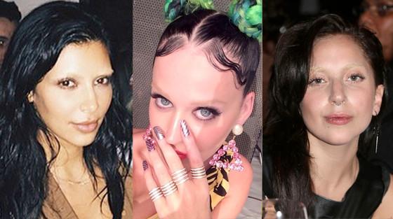 Kim Kardashian, Katy Perry, Lady Gaga, Stars Without Eyebrows, Bleached