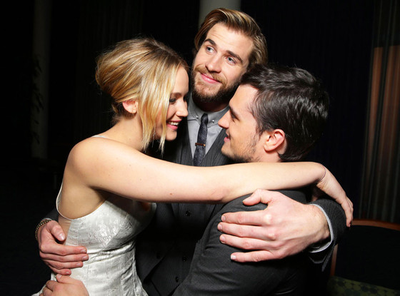 Jennifer Lawrence, Liam Hemsworth, Josh Hutcherson