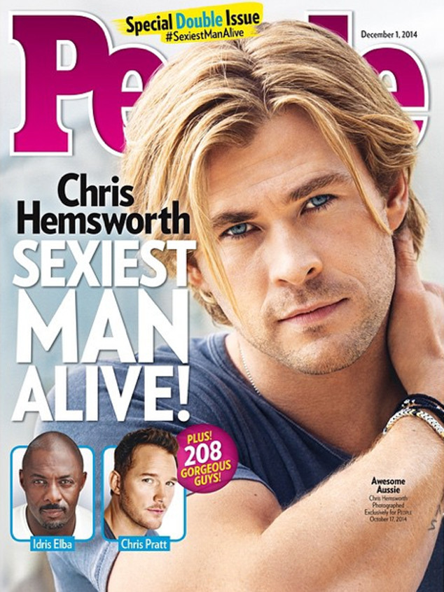 Chris Hemsworth, People's Sexiest Man Alive
