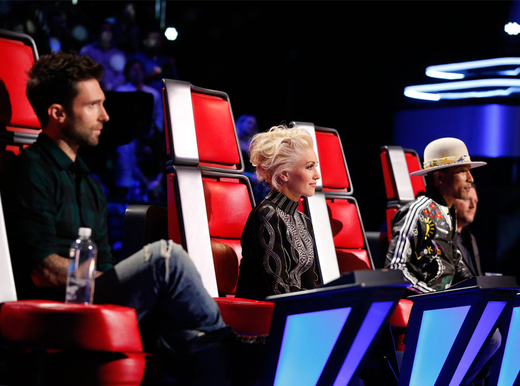 Adam Levine, Gwen Stefani, Pharrell Williams, Blake Shelton, The Voice