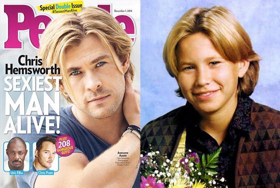 Chris Hemsworth, People Magazine, 90's Haircuts