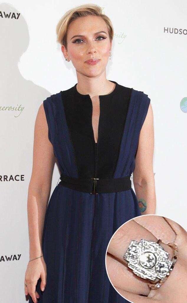 Did Scarlett Johansson Have a Secret Wedding New Ring on That