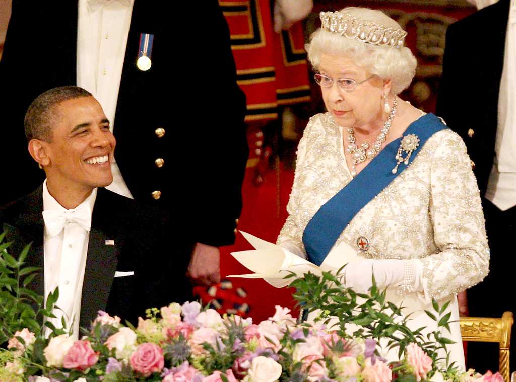 Barack Obama, Queen Elizabeth II