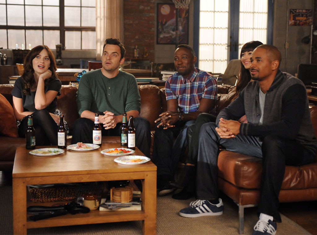Zooey Deschanel, Jake Johnson, Lamorne Morris, Hannah Simone and Damon Wayans, Jr, New Girl