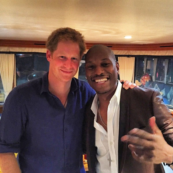 Wait, They're Friends?! Prince Harry And Tyrese Snap A