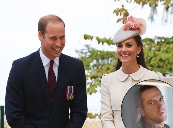 Prince William, Kate Middleton, Damian Lewis
