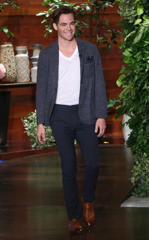 Chris Pine, Ellen Show