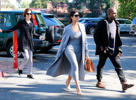 Kim Kardashian, Kanye West, Grandma MJ