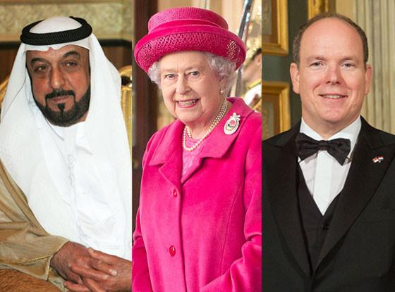 Sheikh Khalida bin Zayed Al Nahyan of Abu Dhabi, Elizabeth II, Albert II