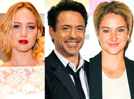 Jennifer Lawrence, Robert Downey Jr., Shailene Woodley