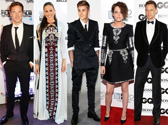 Benedict Cumberbatch, Kristen Stewart, Sarah Jessica Parker, Tom Hiddleston, Justin Bieber, hot or not