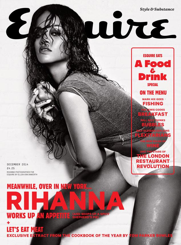 Rihanna, Esquire magazine, embargoed till 3pm PST