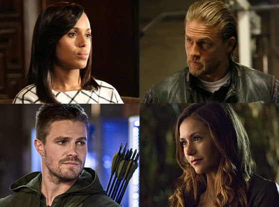 Arrow, The Vampire Diaries, Scandal, Sons of Anarchy