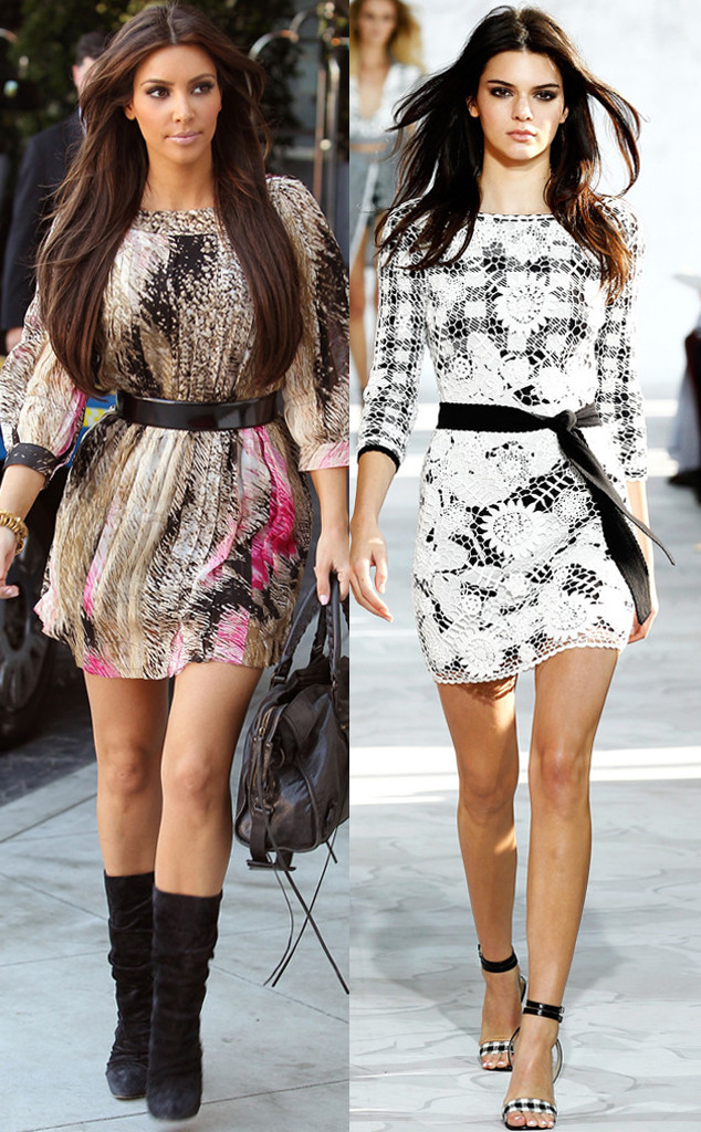 Kim Kardashian, Kendall Jenner, DVF