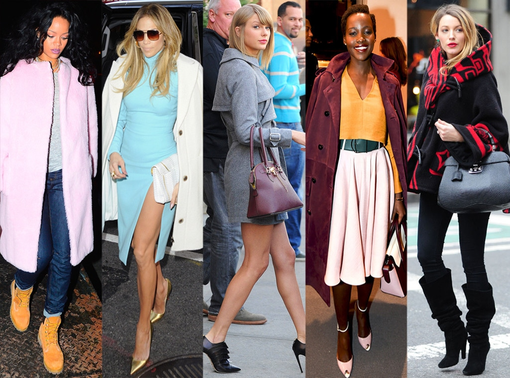 Celeb Coats, Rihanna, Jennifer Lopez, Taylor Swift, Lupita Nyong'o, Blake Lively