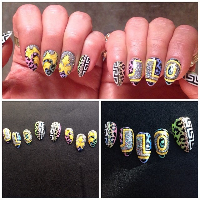 Eclectic Design From Crazy Celeb Nail Art E News