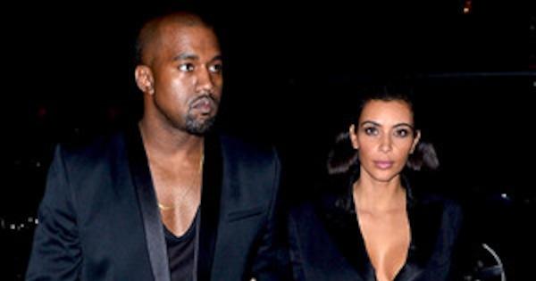 Kim Kardashian and Kanye West Wear Matching Balmain ...