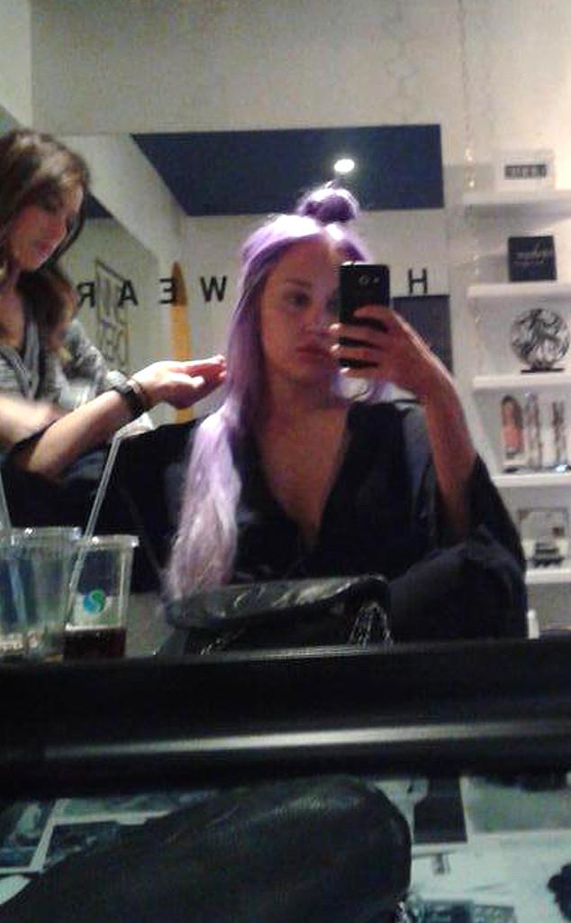 Look Amanda Bynes Dyes Her Hair Purple E News