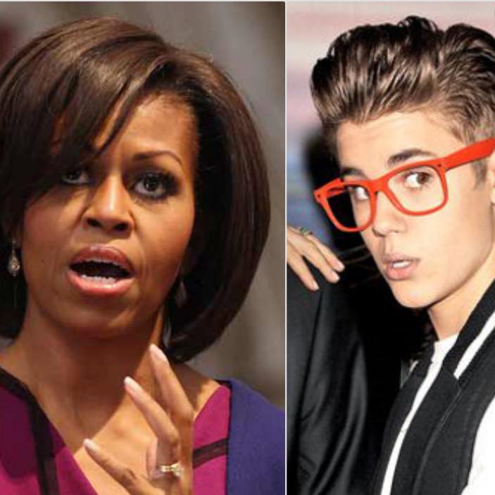 Justin Bieber e Michelle Obama