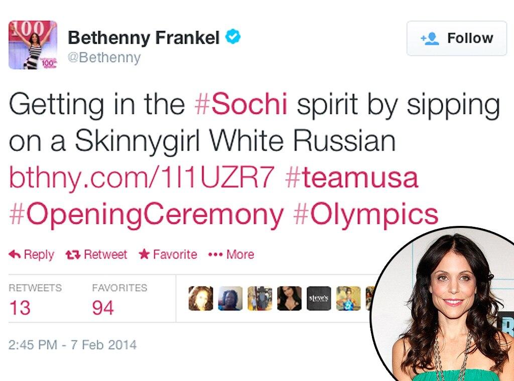 Bethenny Frankel, Olympic Tweets