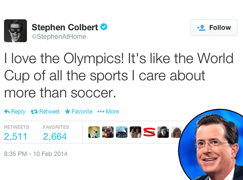 Stephen Colbert, Olympic Tweets