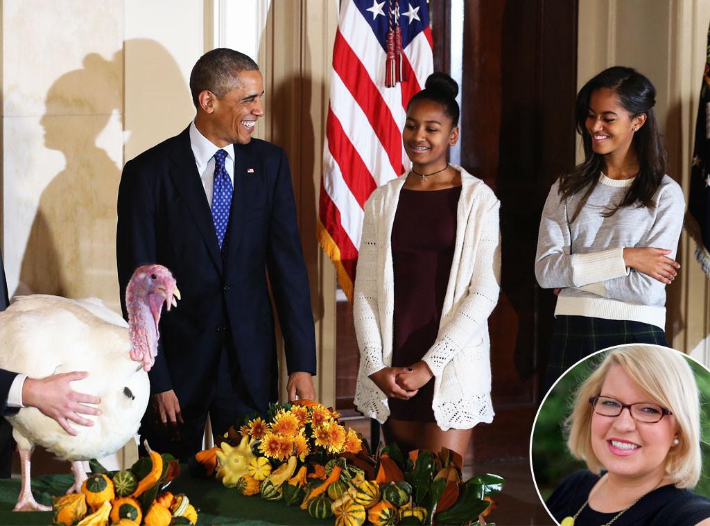 Barack Obama, Michelle Obama, Malia Obama, Sasha Obama, Elizabeth Lauten