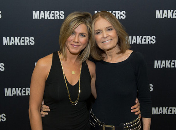 Jennifer Aniston, Gloria Steinem