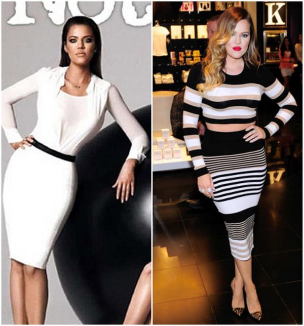 Kardashians photoshop antes e depois