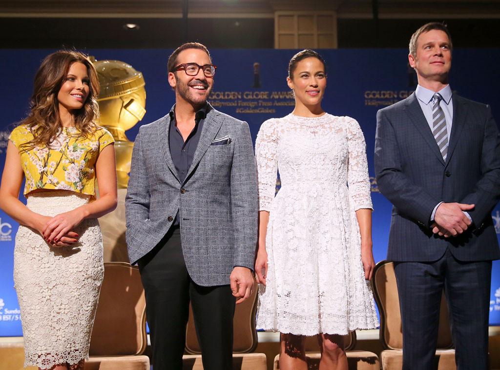 Kate Beckinsale, Jeremy Piven, Paula Patton, Peter Krause, Golden Globe Nominations Announcers