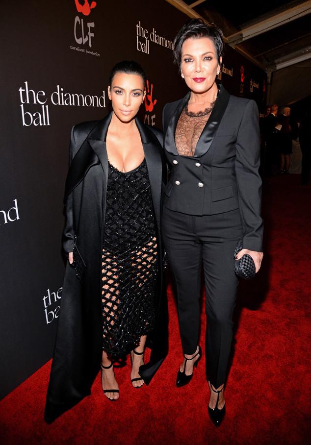 Kim Kardashian, Kris Jenner, The Inaugural Diamond Ball presented by Rihanna