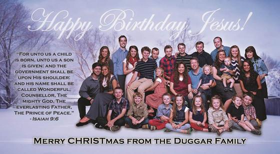 Embargoed till 4pm 12/12- The Duggar Family Christmas Card, Happy Birthday Jesus