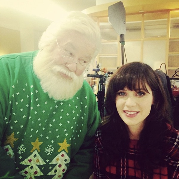 Zooey Deschanel From Stars Celebrate Christmas 2014 E News