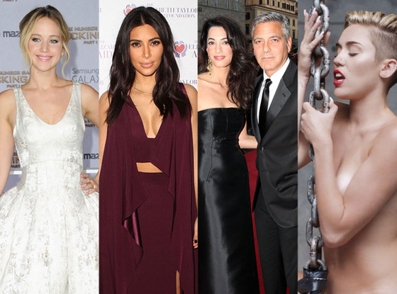Google Top Searches, Jennifer Lawrence, Kim Kardashian, George Clooney, Amal Alamuddin, Miley Cyrus