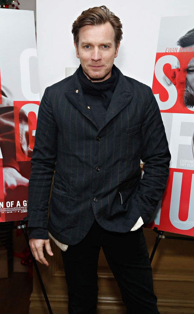 Ewan McGregor -  The Scot is trainspotting just fine these days after having a cancerous mole removed from beneath his right eye.