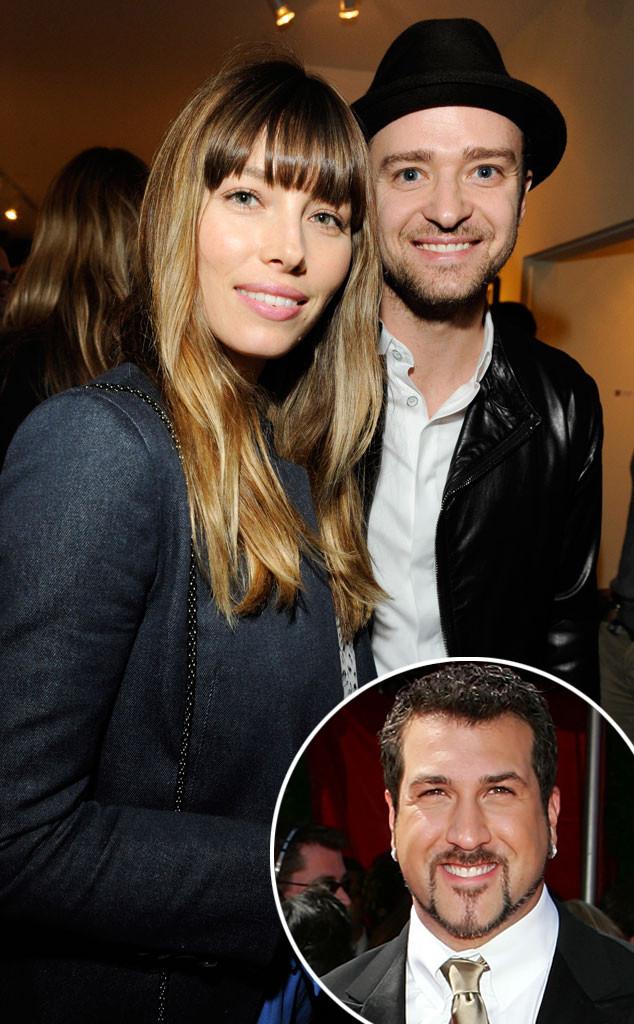 Jessica Biel, Justin Timberlake, Joey Fatone