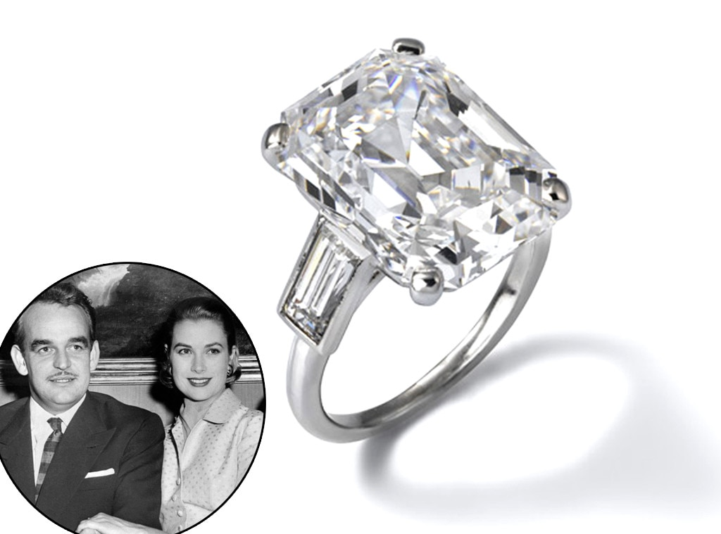 Grace Kellys Engagement Ring from Stunning Royal Jewels From All
