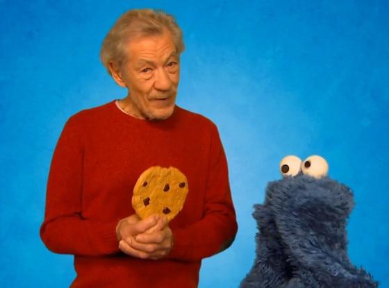 Sir Ian McKellen, Cookie Monster, Sesame Street