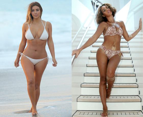 Kim Kardashian, Beyonce, Bikini