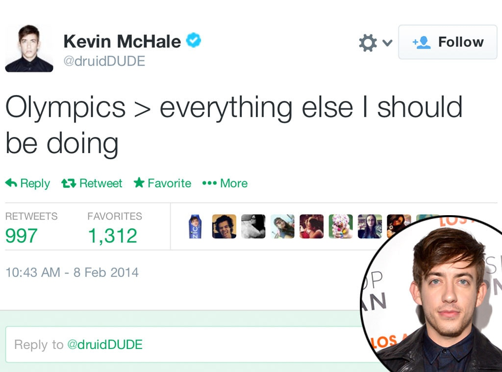 Kevin McHale, Olympic Tweets