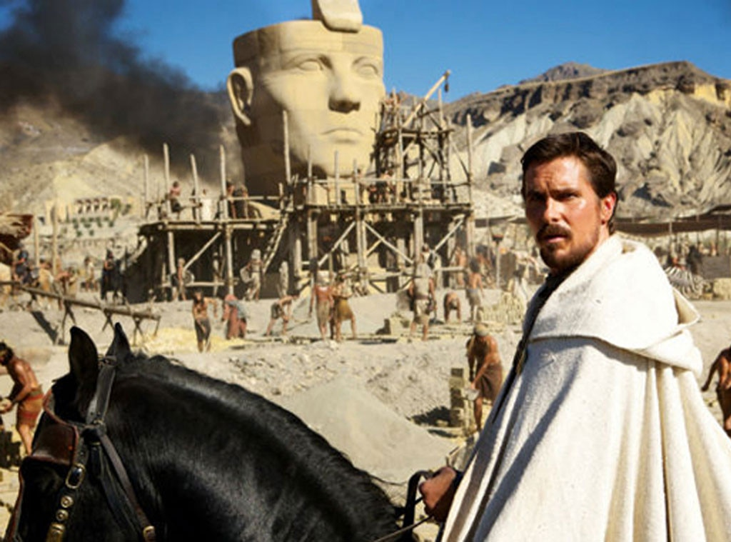 Exodus: Gods and Kings  -  Who knew abs were essential in freeing the Israelites from bondage in pharaoh's Egypt? Bale whipped himself back into shape to play Moses with your standard trim-and-fit-guy's diet and exercise routine, which included cardio and those dratted weights.