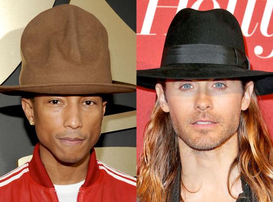 Pharrell Williams, Jared Leto, Hat