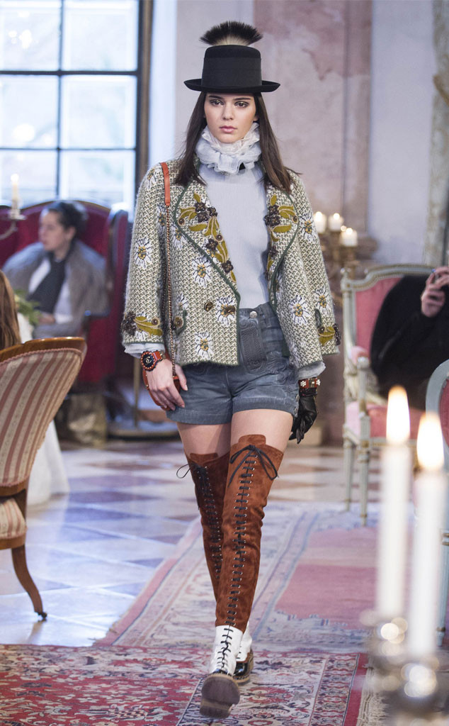 Kendall Jenner Channels The Victorian Era While Walking