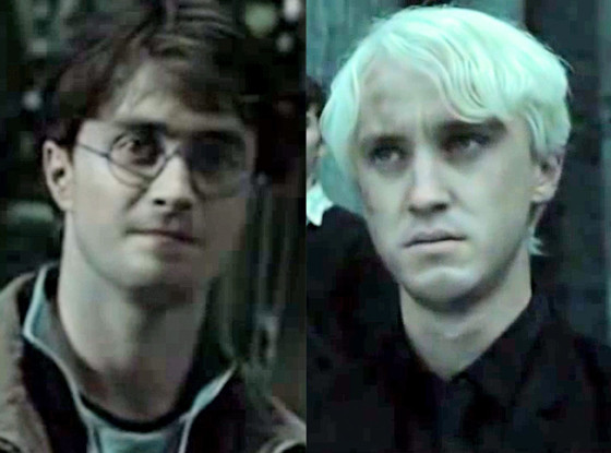 Tom Felton, Daniel Radcliffe, Harry Potter & Deathly Hallows Part 2