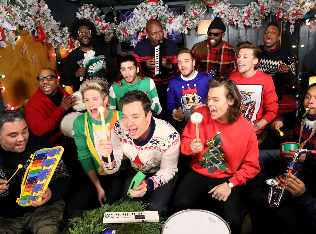 "Jimmy Fallon, One Direction and The Roots Perform ""Santa Claus Is ..."