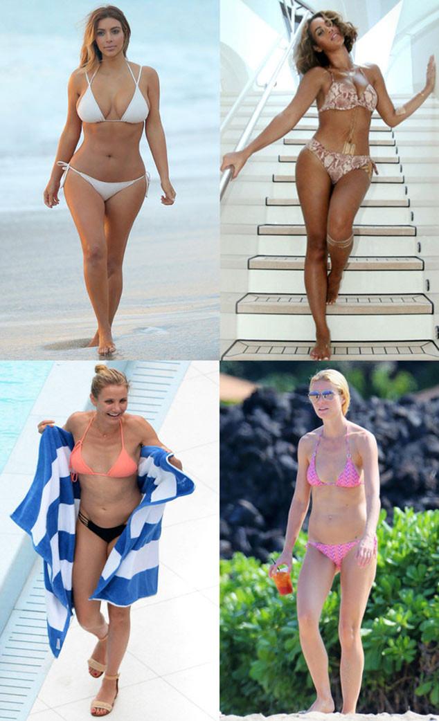 Kim Kardashian, Beyonce, Cameron Diaz, Gwyneth Paltrow, Bikini