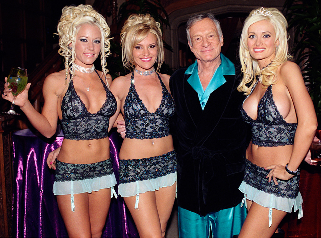 Hugh Hefner, Holly Madison, Kendra Wilkinson, Bridget Marquardt